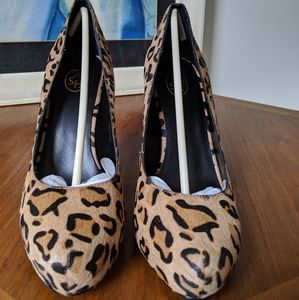 Ash hidden platform leopard print shoes, 41